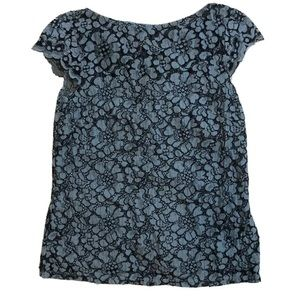 💎 3 FOR $25 H&M Short Sleeves Mesh Lined Blouse S